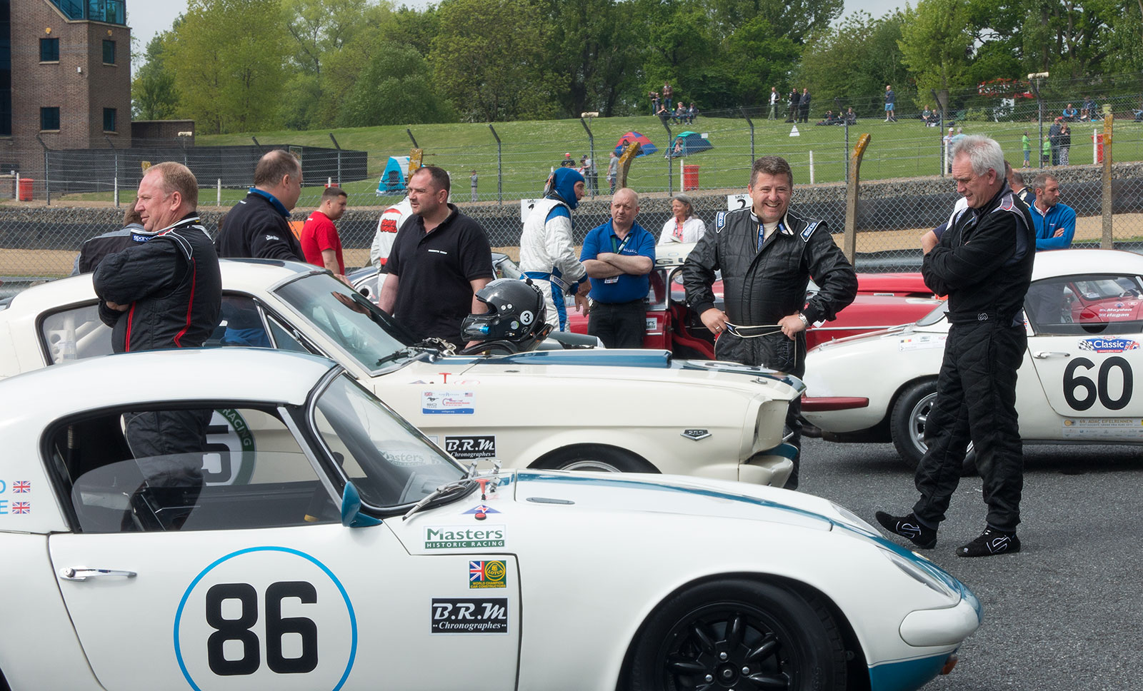Masters Historic racing cars at Brands Hatch, 2015