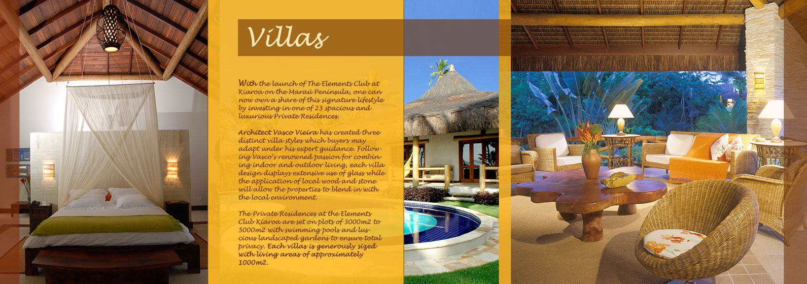 Brochure design submission to a company promoting a luxury holiday location